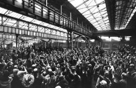 Assemblea con Pizzinato alla Breda di Sesto San Giovanni, negli anni '70